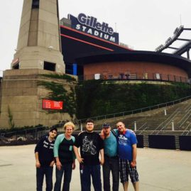 Ryan, Dakota, Nathan, Norman and Kenny at Gillette Stadium celebrating Nathan's 26th Birthday.